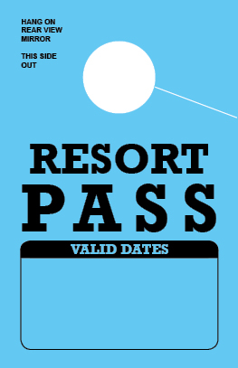 In Stock Resort Pass Hang Tag - Blue