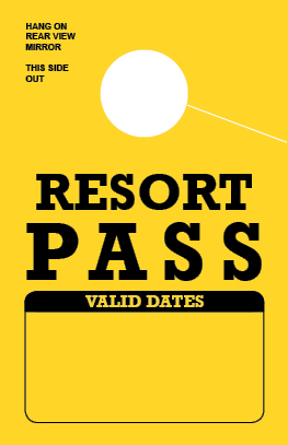 In Stock Resort Pass Hang Tag - Bright-Yellow