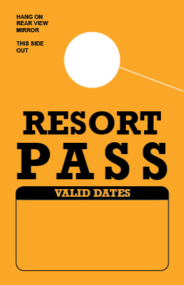 In Stock Resort Pass Hang Tag - Gold