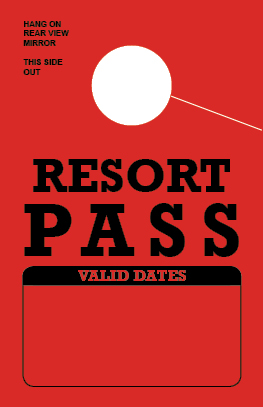 In Stock Resort Pass Hang Tag - Red