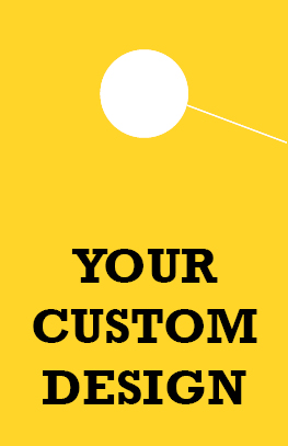 Custom Personalized 1 Sided Hang Tag - Bright-Yellow
