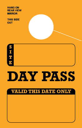 In Stock Day Pass Hang Tag - Gold