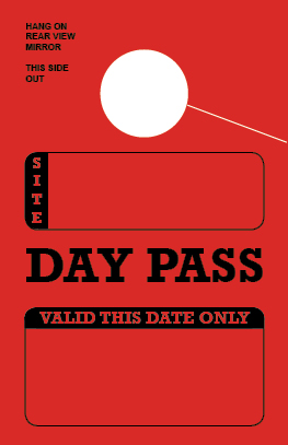 In Stock Day Pass Hang Tag - Red