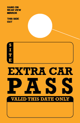 In Stock Extra Car Pass Hang Tag - Gold