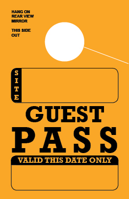 In Stock Guest Pass Hang Tag - Gold