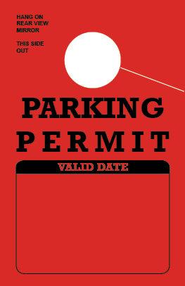 Parking Permit Hang Tag - Red